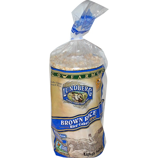 Lundberg, Brown Rice Rice Cakes, Lightly Salted, 8.5 oz (241 g) (Discontinued Item)