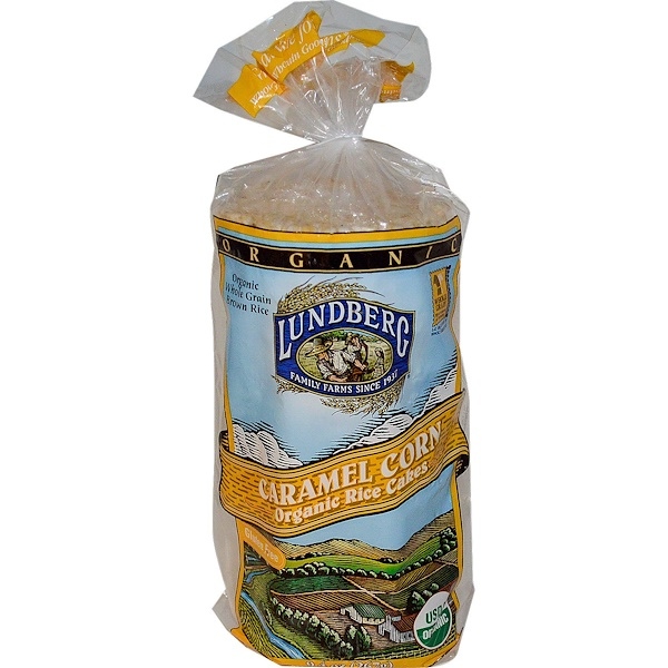 Lundberg, Caramel Corn Organic Rice Cakes, 9.4 oz (267 g) (Discontinued Item)