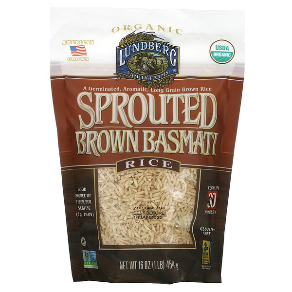 Sprouted Brown Basmati Rice, 16 oz (454 g)