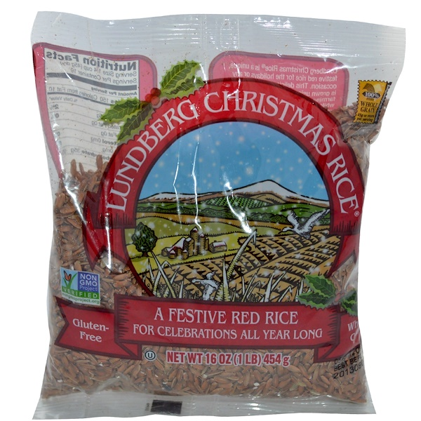 Lundberg, Christmas Rice, A Festive Red Rice, 16 oz (454 g) (Discontinued Item)