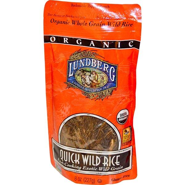 Lundberg, Organic Quick Wild Rice, 8 oz (227 g) (Discontinued Item)