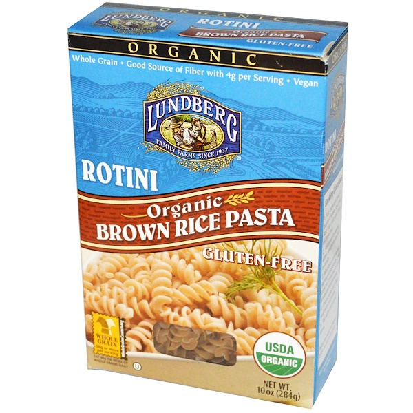 Lundberg, Rotini, Brown Rice Pasta, 10 oz (284 g) (Discontinued Item)