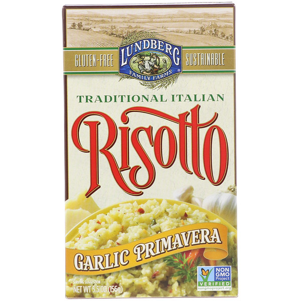 Lundberg, Risotto, Garlic Primavera, 5.5 oz (156 g)