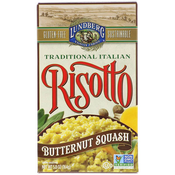 Lundberg, Traditional Italian Risotto, Butternut Squash, 5.8 oz (164 g) (Discontinued Item)