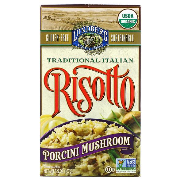 Organic, Traditional Italian Risotto, Porcini Mushroom, 5.9 oz (167 g)