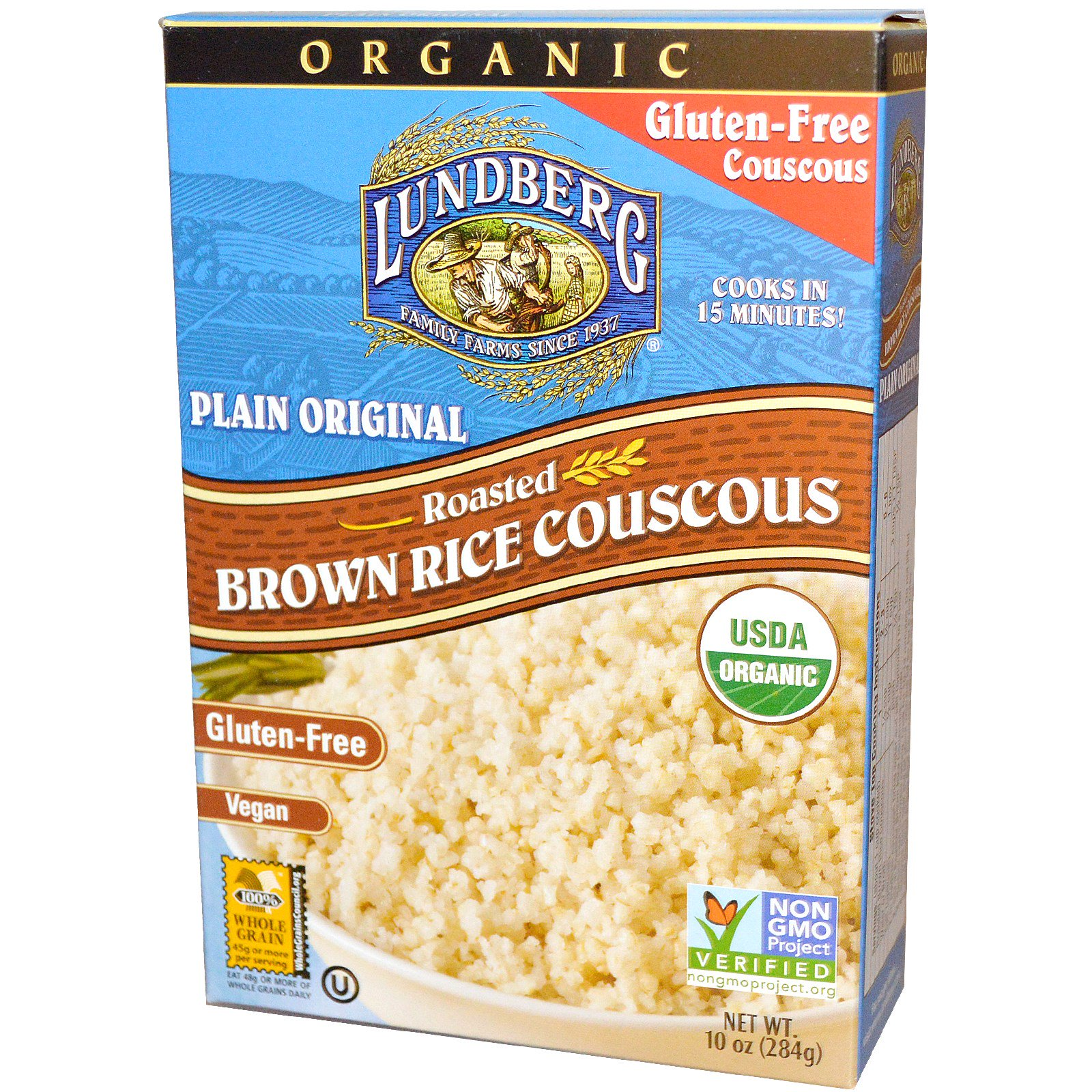 Couscous Plain Lundberg organic roasted brown rice couscous plain original 10 lundberg organic roasted brown rice couscous plain original 10 oz 284 sisterspd