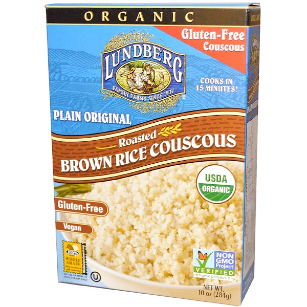 Lundberg, Organic, Roasted Brown Rice Couscous, Plain Original, 10 oz (284 g) (Discontinued Item)