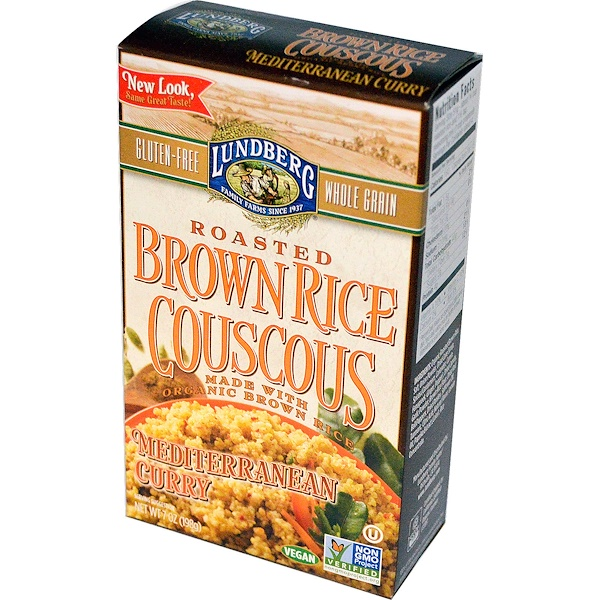 Lundberg, Roasted Brown Rice Couscous, Mediterranean Curry, 7 oz (198 g) (Discontinued Item)