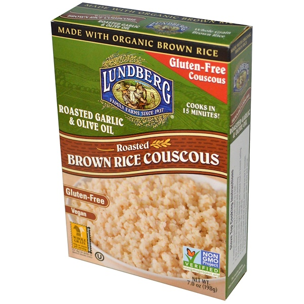 Lundberg, Roasted Brown Rice Couscous, Roasted Garlic & Olive Oil, 7 oz (198 g) (Discontinued Item)