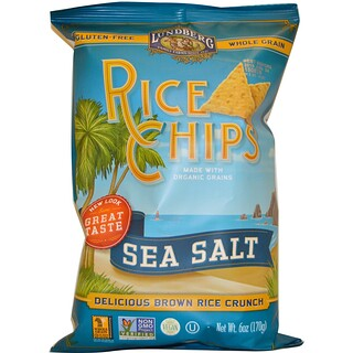 Lundberg, Rice Chips, Sea Salt, 6 oz (170 g)