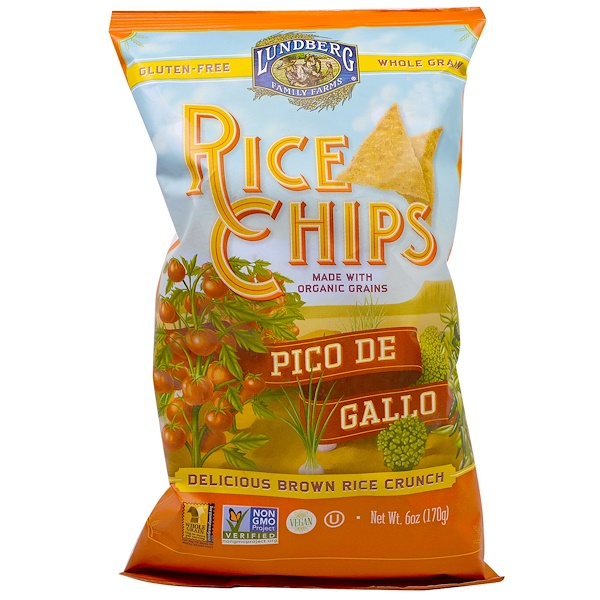 Lundberg, Rice Chips, Pico De Gallo, 6 oz (170 g)