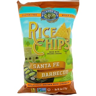 Lundberg, Rice Chips, Santa Fe Barbecuee, 6 oz (170 g)