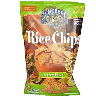 Lundberg, Rice Chips, Fiesta Lime, 6 oz (170 g)
