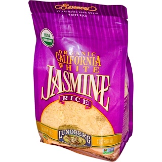Lundberg, Organic, California White Jasmine Rice, 32 oz (907 g)