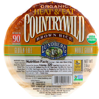 Lundberg, Organic, Countrywild Brown Rice, 7.4 oz (210 g)
