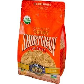 Lundberg, Organic Brown Short Grain Rice, 2 lbs (907 g)