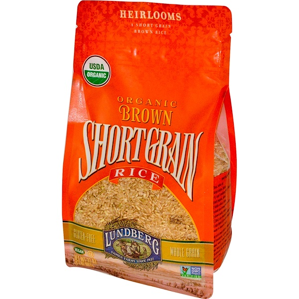 Lundberg, Organic Brown Short Grain Rice, 2 lbs (907 g) (Discontinued Item)