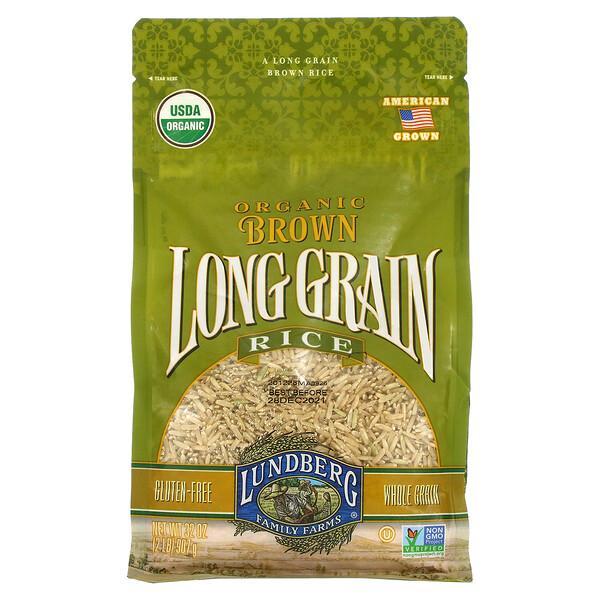 Organic Brown Long Grain Rice, 32 oz (907 g)