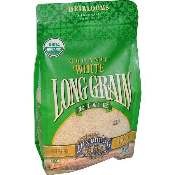 Lundberg, Organic, White Long Grain Rice, 2 lbs (907 g) (Discontinued Item)