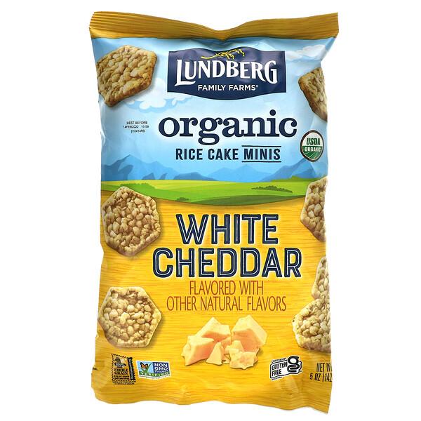 Organic Rice Cake Minis, White Cheddar, 5 oz (142 g)