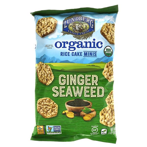 Organic Rice Cake Minis, Ginger Seaweed, 5 oz (142 g)