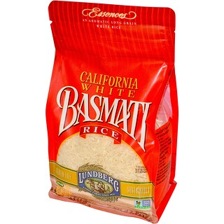 Lundberg, California White Basmati Rice, 32 oz (907 g)