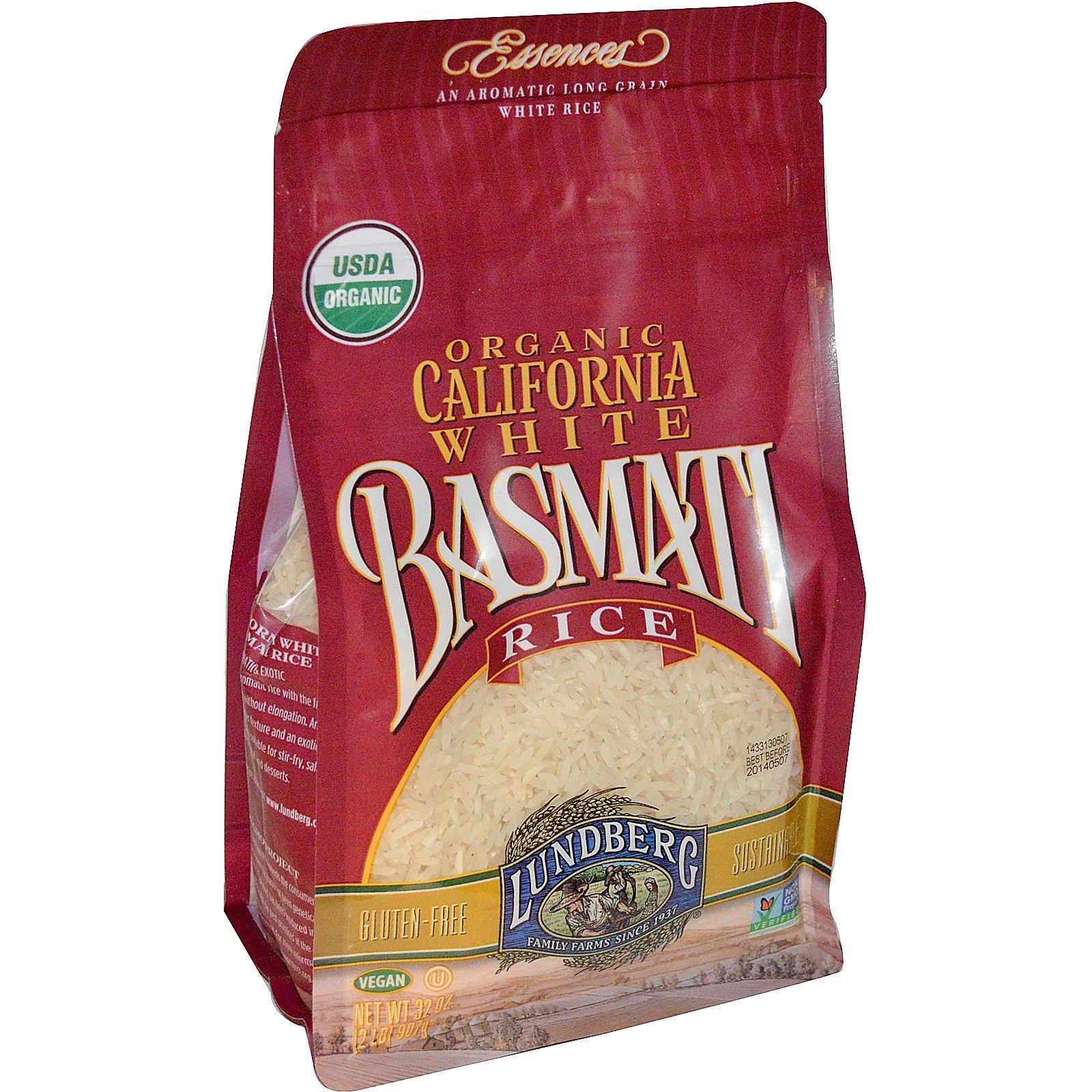 Lundberg, Organic, California White Basmati Rice, 32 oz