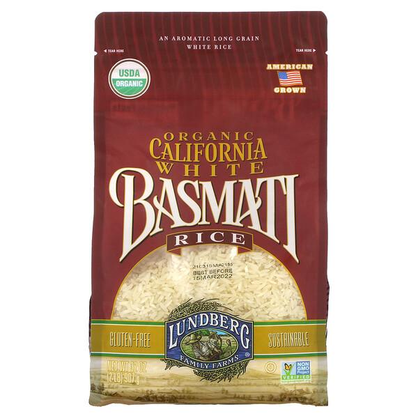 Органический калифорнийский белый рис Басмати, 32 унции (907 г)