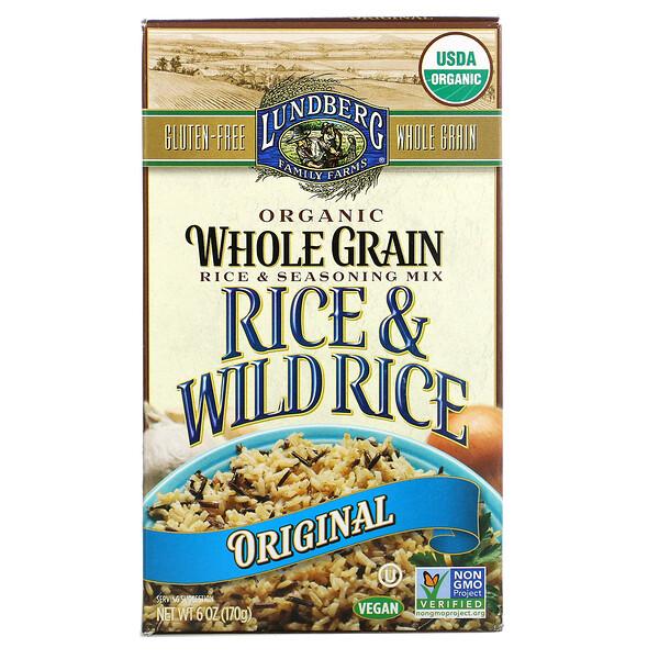 有機全谷物稻米和調味料混合物,稻米和野生稻米,原味,6 盎司(170 克)