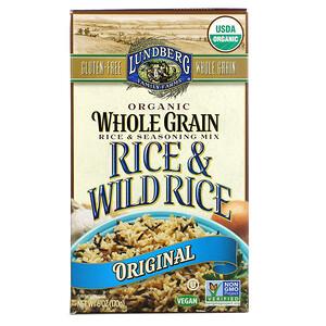 Lundberg, Organic Whole Grain Rice & Seasoning Mix, Rice & Wild Rice, Original, 6 oz (170 g)