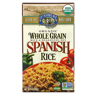Lundberg, Organic Whole Grain Rice & Seasoning Mix, Spanish Rice, 6 oz (170 g)
