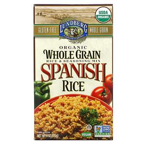 Lundberg, Organic Whole Grain Rice & Seasoning Mix, Spanish Rice, 6 oz (170 g)'