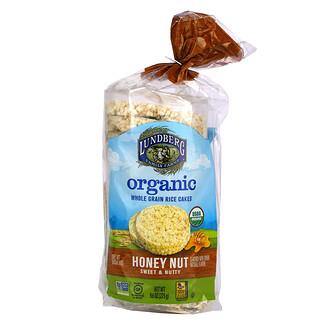 Lundberg, Organic Whole Grain Rice Cakes, Honey Nut, Sweet & Nutty, 9.6 oz (273 g)