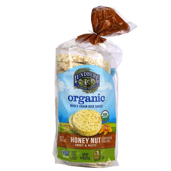 Organic Whole Grain Rice Cakes, Honey Nut, Sweet & Nutty, 9.6 oz (273 g)