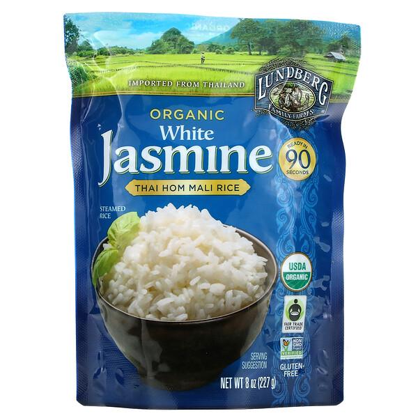 Organic White Jasmine, Thai Hom Mali Rice, 8 oz (227 g)