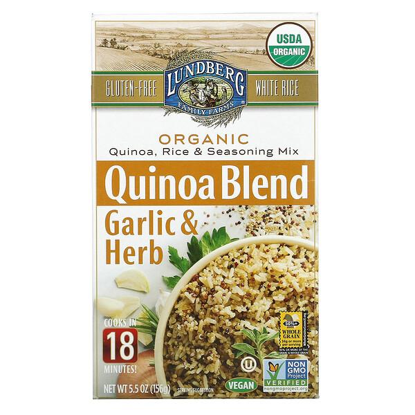 Organic Quinoa Blend, Rice and Seasoning Mix, Garlic & Herb, 5.5 oz (156 g)