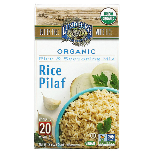Organic Rice Pilaf, Rice & Seasoning Mix, 5.5 oz (156 g)