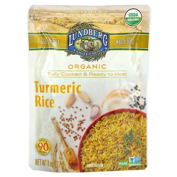 Organic Fully Cooked & Ready To Heat, Turmeric Rice, 8 oz (227 g)