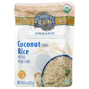 Lundberg, Organic Fully Cooked & Ready to Heat, Coconut Rice,  8 oz (227 g)
