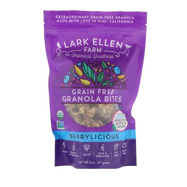 Lark Ellen Farm, Grain Free Granola Bites, Berrylicious, 8 oz (227 g) (Discontinued Item)
