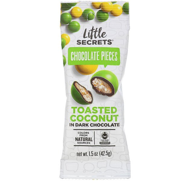 Little Secrets, Dark Chocolate Pieces, Toasted Coconut, 1.5 oz (42.5 g)