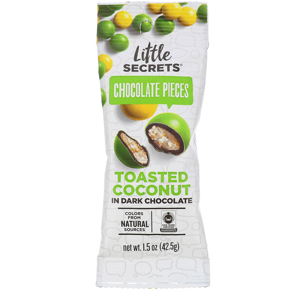 Little Secrets, Dark Chocolate Pieces, Toasted Coconut, 1.5 oz (42.5 g) (Discontinued Item)