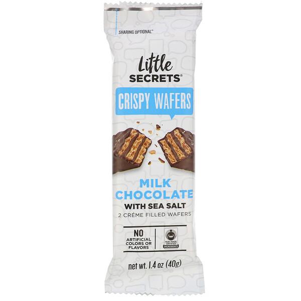 Milk Chocolate Wafer, Sea Salt, 1.4 oz (40 g)