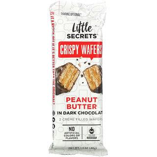 Little Secrets, Dark Chocolate Crispy Wafers, Peanut Butter, 1.4 oz (40 g)