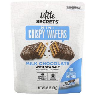 Little Secrets, Mini Crispy Wafers, Milk Chocolate with Sea Salt, 10 Individually Wrapped Minis, 3.5 oz (100 g)