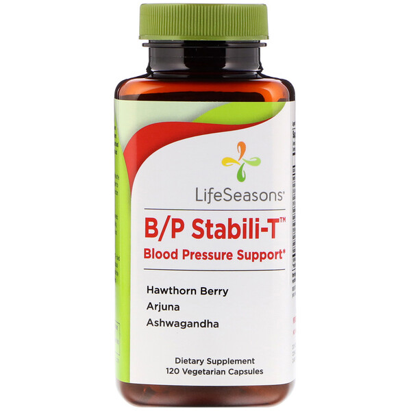 LifeSeasons, B/P Stabili-T Blood Pressure Support, 120 Vegetarian Capsules