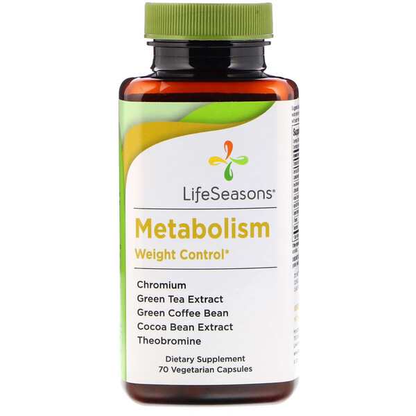 LifeSeasons, Metabolism, Weight Control, 70 Vegetarian Capsules