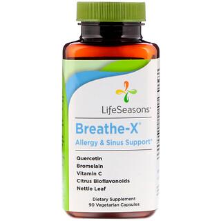 LifeSeasons, Breathe-X Soutien des allergies et des sinus, 90 Capsules Végétariennes