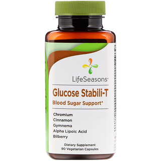LifeSeasons, Glucose Stabili-T Blood Sugar Support, 90 Vegetarian Capsules