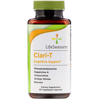 LifeSeasons, Clari-T Cognitive Support, 60 Vegetarian Capsules